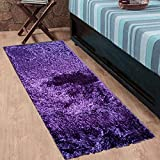 #5: Cloth Fusion Premuim Shaggy Carpet for Living Room 2 Feet x 4.5 Feet (Purple)