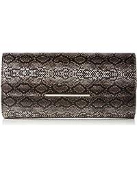 Berydale Damen Lack Handtasche, Clutch Schultertasche mit Zusatzkette und Magnetverschluss