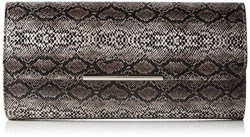 Berydale Damen Lack Handtasche, Clutch Schultertasche mit Zusatzkette und Magnetverschluss, Snake (Snake-clutch-handtasche)