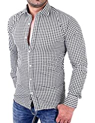 Hemd Herren Xinan Langarm Slim Fit Business Casual Shirt