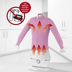 CLEANmaxx Automatischer Hemdenbügler   Trocknet und glättet Hemden & Blusen und ersetzt Bügeleisen oder Dampfbügelstation   Automatische Bügelstation auch zum Auffrischen Ihrer Kleidung