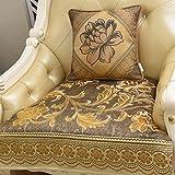 Sofa slipcover europeo,Cubierta antideslizante del sofá Tela De lujo Cuatro estaciones Sala de combinación Cojín para sofá chaise sofá cubierta-C 70x180cm(28x71inch)