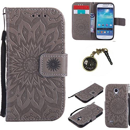 Preisvergleich Produktbild PU Silikon Schutzhülle Handyhülle Painted pc case cover hülle Handy-Fall-Haut Shell Abdeckungen für (Samsung Galaxy S4 Mini i9190 / i9195) +Staubstecker (8FF)