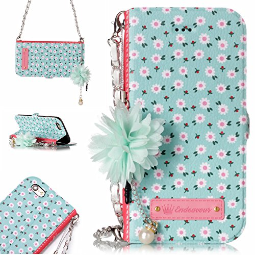 9cbe9330ae69 WindTeco Leather Flower Handbag Case for Apple iPhone 6S Plus/iPhone 6S Plus