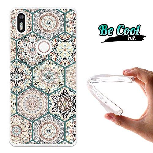 Becool® Fun - Funda Gel Flexible para Bq Aquaris X5 Plus ,Carcasa TPU fabricada con la mejor Silicona, protege y se adapta a la perfección a tu Smartphone y con nuestro exclusivo diseño. Mosaico de rosetones