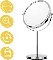 6-Inch Magnifying Makeup Mirror Two-Sided Tabletop Vanity Mirror with 3x Magnification