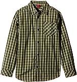 s.Oliver Jungen Hemd mit Kentkragen, Kariert, Gr. 140 (Herstellergröße: S/REG), Mehrfarbig (green check 78N7)