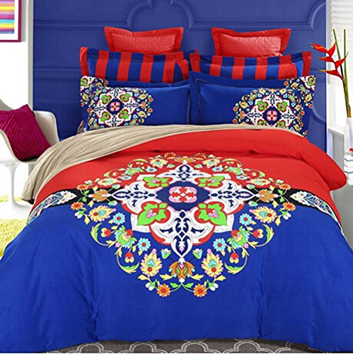 king size home textile 3d bedding set Santa Claus Christmas gift Blue storm 4 pcs bed sets , duvet cover bed sheet pillow case 100% cotton christmas gift comforter not include