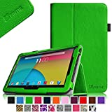 """Fintie Premium PU Leather Case Cover for 10.1-Inch Android Tablet PC inclu. PolaTab 10.1 Inch (Q10.1 / Elite Q10.1 / Elite Q10.2), Fusion5 10.1 Inch (FINITE4 / Xtra SPACE4 / Xtra POWER4), JYJ 10 Inch, Dragon Touch A1/A1X 10.1 Inch, Time2 10.1 Tablet, D2D 10.1 inch Android Tablet, iropro 10.1 Inch Tablet, TONBUX 10.1"""" Tablet, BTC FLAME Q10.1, Tagital T10 10.1"""" Tablet (PLEASE check the complete compatible tablet list under Product Description) - Green"""