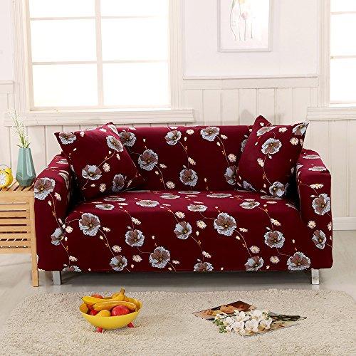 Lingjun stile naturale copripoltrona elasticizzato universale copridivano elasticizzato 1/2/3/4 posti con braccio copridivano protector mobili divano decorazione casa ufficio (stile 07, 3posti)
