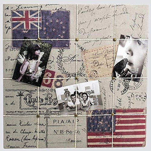 Pêle mêle photo en bois multivues drapeau USA 50x50cm Flags