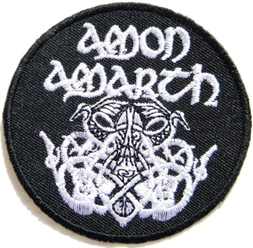 "AMON AMARTH Odin Death Music Band Heavy Metal Rock Punk Logo jacket T shirt Patch Iron on Embroidered Sign Badge / Size 3""Width x 3""Height"