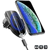 KFZ Auto Ladegerät 10W Qi induktive Ladestation mit Lüftung Handy Halterung für Samsung Galaxy S9 S9+ Note 9 Note 8 S8 S8+, 7.5W Car Wireless Charger für iPhone X XR XS Max 8 8+ und andere Qi Geräte