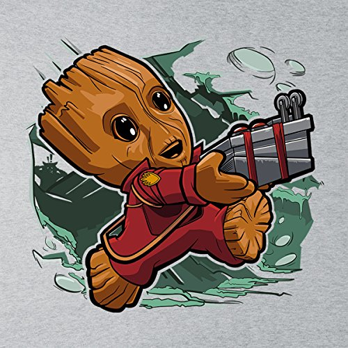 Tiny Groot Guardians Of The Galaxy II Women's Vest Heather Grey