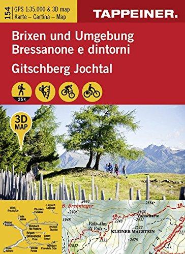 Brixen un Umgebung-Bressanone e dintorni. Cartina topografica 1:35000. Con panoramiche 3D. Ediz. bilingue por Athesia Tappeiner Verlag