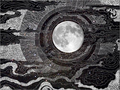 Posterlounge Alu Dibond 40 x 30 cm: Mondschein von Brenda Erickson