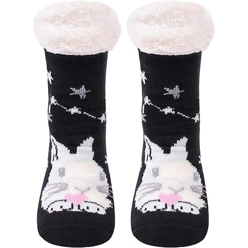Gather Other I calzini di lana appesantiti,I calzini quotidiani per le donne,I calzini non scivolosi di tessuti
