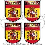 Pegatinas de vinilo con escudo de la bandera de España, 50 mm, 4 unidades