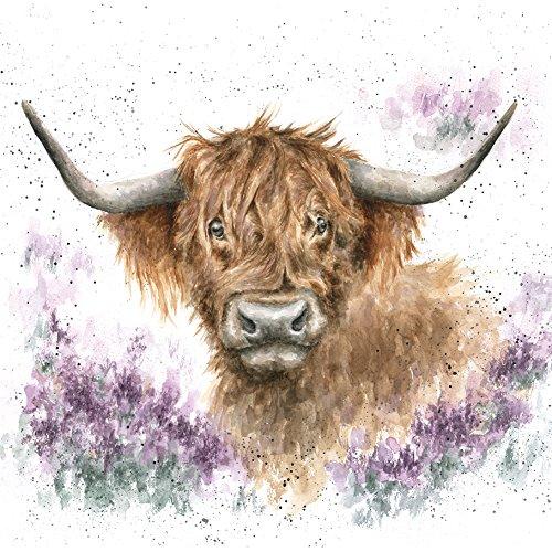artistic-greeting-card-wre8694-blank-birthday-highland-heathers-flora-and-fauna