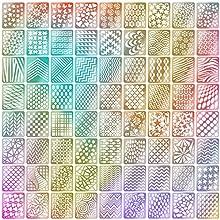 Mudder Set de Pegatinas de Plantilla de Vinilos de Uña, 24 Hojas 72 Diseños Diferentes de Hojas Lindas Fáciles de Plantilla de Uñas de Vinilos de Uñas de Arte de Uñas, 144 Piezas