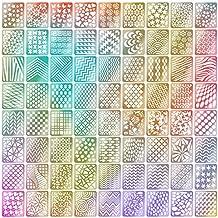 Set de Pegatinas de Plantilla de Vinilos de Uña, 24 Hojas 72 Diseños Diferentes de Hojas Lindas Fáciles de Plantilla de Uñas de Vinilos de Uñas de Arte de Uñas, 144 Piezas