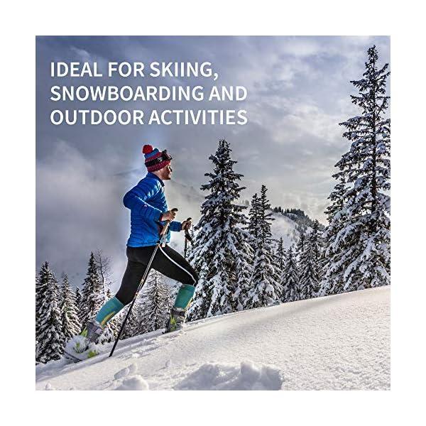 DANISH ENDURANCE Calze da Sci Invernali in Lana Merino, Trekking, Escursionismo e Alpinismo per Uomo, Donna & Bambino… 4 spesavip