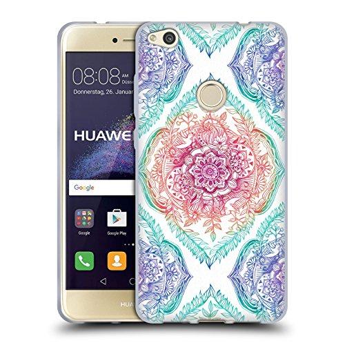Offizielle Micklyn Le Feuvre Tusche Und Regenbogen Blumige Muster Soft Gel Hülle für Huawei P8...