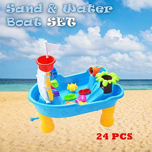 Sand & Wasser Spieltisch Spielzeug Sandspieltisch Wasserspieltisch Buddeltisch Zubehör 2IN1
