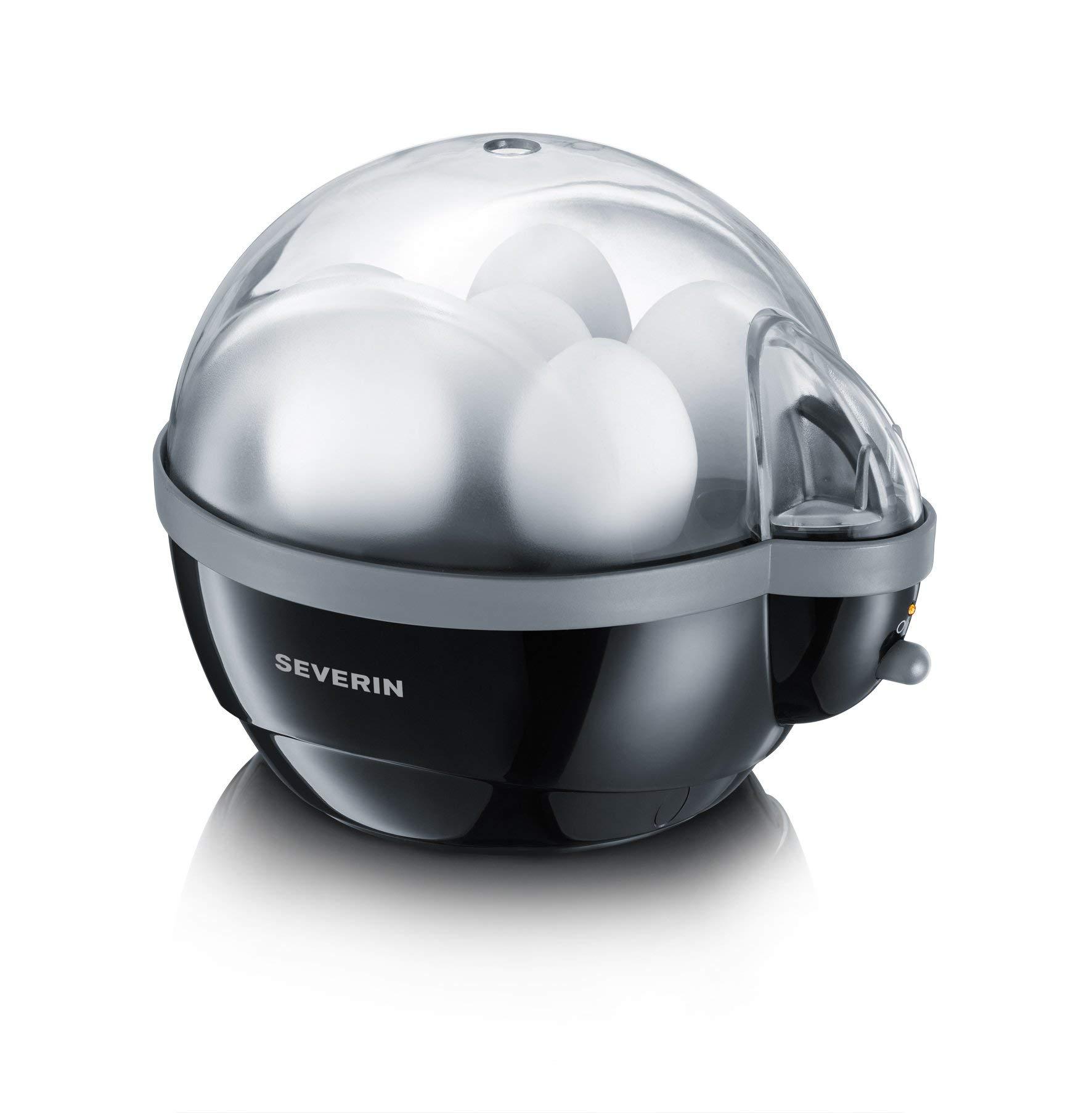 61hVo 5k7vL - Severin Egg Boiler with 400 W of Power EK 3056, Plastic, Black-Grey