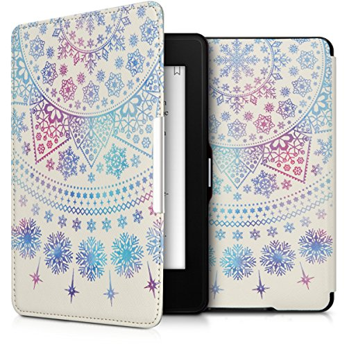kwmobile Amazon Kindle Paperwhite Hülle - Kunstleder eReader Schutzhülle Cover Case für Amazon Kindle Paperwhite (für Modelle bis 2017) (Hülle Muster Kindle)
