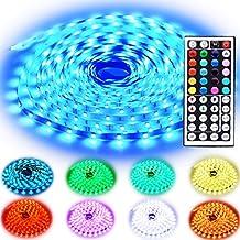 Rxment Tiras LED Iluminación 10m 300 LEDs 5050 SMD RGB Multicolor Kit Completo con Control remoto de 44 botones y fuente de Alimentación 24V 3A para la Decoración del Hogar