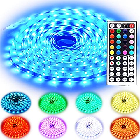 Rxment LED Streifen Beleuchtung 10M 32.8 Ft 5050 RGB 300