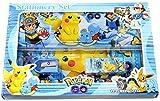 Assortmart Pokemon Pikachu & Friends Stationery Box Set - Pencil, Eraser, Sharpener, Metal