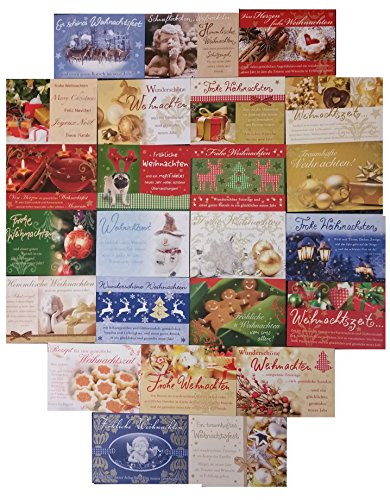ochwertige Weihnachtskarten 17x12cm u.a. von Perleberg in verschiedenen wunderschönen winterlichen Weihnachten-Designs umweltfreundliches Papier in FSC Qualität (Ist Halloween-eine Welt, Urlaub)