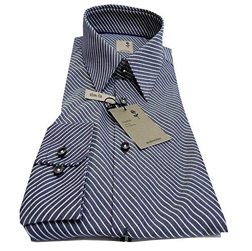 Seidensticker -  Camicia classiche  - A righe - Classico  - Uomo Anthrazit