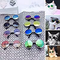 Woopower Gafas de sol para mascotas, gafas de protección para gatos y perros, gafas de protección para gatos, gafas de protección para gatos, gafas de protección para fotos frías, color al azar