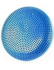shopyogas cojín acolchado plano y redondo punto de activación pies masaje Yoga Pilates Ball, mujer, azul, large