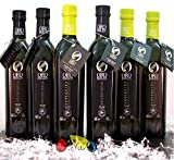 6 Glasflaschen (3 picual + 3 arbequina) - Premium Olivenöl Oro Bailén Familienreserve - Olivenöl extra vergine von Oliva Oliva Internet SL