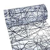 Dekoweb® Tischläufer - Tischband - Tischdekoration - Schwarz-Weiß - 30 cm Breite - 15 m Länge - 54-300-15-016