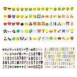 260 Lettres Lumineuses,Chenci Lettres Nombres Symboles Emojis, Décoration Boîte Cinématique Lightbox Spécial Festival Enseigne/Cinema Lumineuse