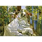 Impresión en metacrilato 110 x 80 cm: Mending the Sail de Joaquin Sorolla y Bastida / akg-images