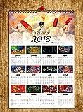 tamatina 2018Kalender–Muslim Gemälde Wand Kalender–Wandkalender 2018–2018Kalender für Home–2018Kalender für Büro–islamischen Kalender–HD Qualität Wand Kalender 2018–Designer Kalender–Größe Kalender