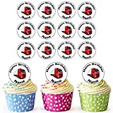 Lorry 30 Personalised Edible Cupcake Toppers / Birthday Cake Decorations - Easy Precut Circles