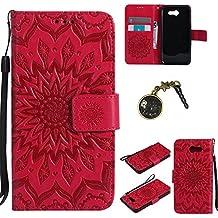 PU Cuir Coque Strass Case Etui Coque étui de portefeuille protection Coque Case Cas Cuir Swag Pour Samsung Galaxy J3 2017 +Bouchons de poussière (3FF)