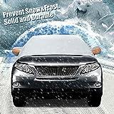 Audew Frontscheibe Auto Sonnenschutz Windschutzscheibe Auto Anti-Schnee Halbgarage Winterschutz Eisschutzfolien