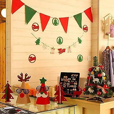 Natale Decorazioni Tavolo Camino Cabinet da 14pezzi