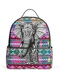 291f768dc9 JSTEL Aztec Elephant School Backpack 4th 5th 6th Grade for Boys Teen Girls  Kids