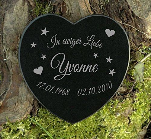 Gedenkstein Gravur Herz Sternenkinder Marmor