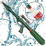 Wishtime Super Bazooka Soaker Pistola Acqua Blaster Adatto a Vite Superiore Pompa Azione Pistola Shooter con Rimovibile (aggiornamento a Cola Bottiglia) per Adulti, Bambini