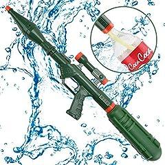 Idea Regalo - Wishtime Super Bazooka Soaker Pistola Acqua Blaster Adatto a Vite Superiore Pompa Azione Pistola Shooter con Rimovibile (aggiornamento a Cola Bottiglia) per Adulti, Bambini